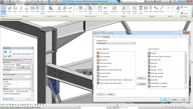 The new Autodesk® Steel Connections for Revit extension enables connections to be modeled with a higher level of detail in Revit.