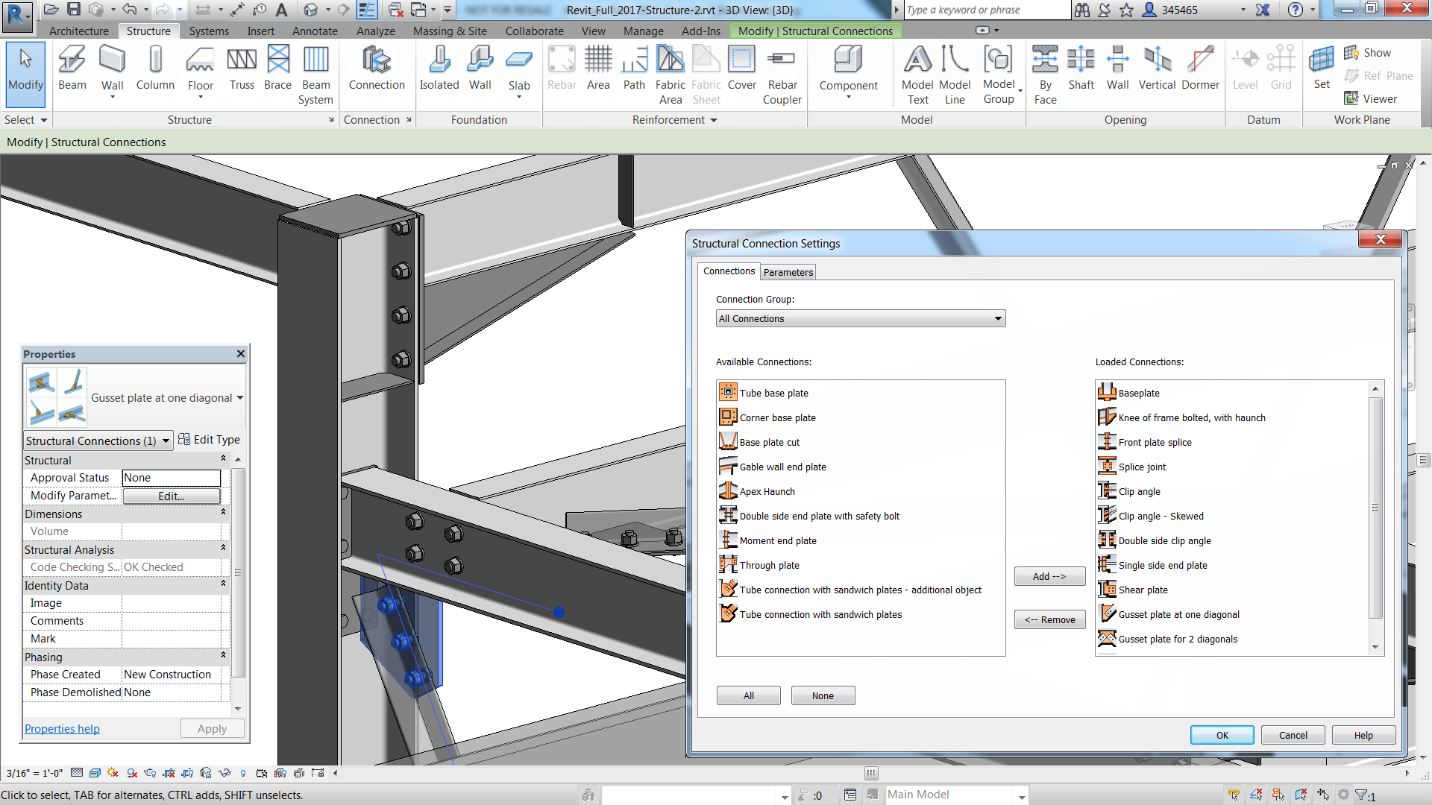The New Autodesk� Steel Connections For Revit Extension Enables Connections  To Be Modeled With A