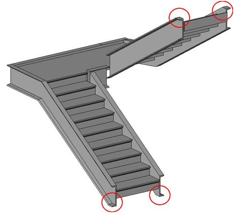 how to connect stair stringers together